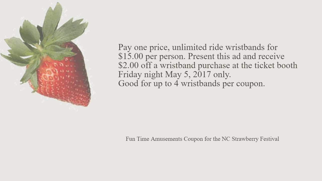 Oxnard strawberry festival discount coupons