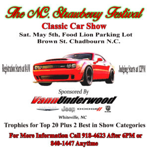 THE NC STRAWBERRY FESTIVAL CAR SHOW @ Food Lion Parking Lot | Chadbourn | North Carolina | United States